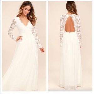 Lulu's Awaken My Love white Lace Wedding Dress S